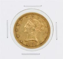 1894 $10 XF Liberty Head Eagle Gold Coin
