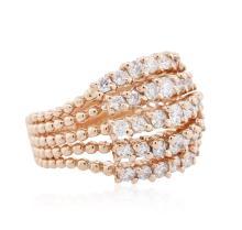 14KT Rose Gold 1.36ctw Diamond Ring