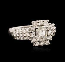 14KT White Gold EGL USA Certified 2.29ctw Diamond Ring
