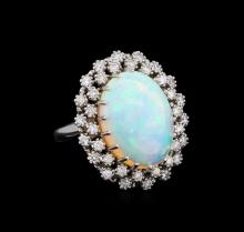 9.92ct Opal and Diamond Ring - 14KT White Gold