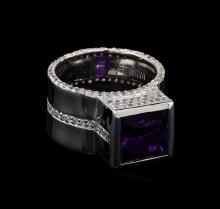 Crayola 3.5ct Amethyst and White Sapphire Ring - .925 Silver