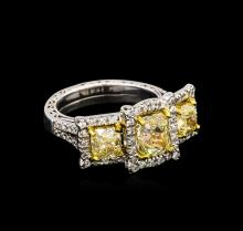 14KT Two-Tone Gold 4.21ctw Diamond Ring