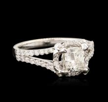 18KT White Gold 1.09ctw Diamond Ring
