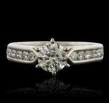 Palladium 1.42ctw Diamond Ring