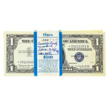Original 1957B $1 Star Note Silver Certificate Pack of 100