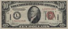 1934 $10 Hawaii Federal Reserve Note Currency