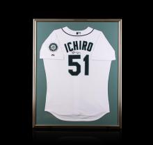 Ichiro Suzuki Framed Autographed Jersey