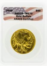 2009 ANACS MS70 $50 Gold Buffalo Gold Coin