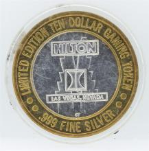 Limited Edition $10 Las Vegas .999 Silver Gaming Token