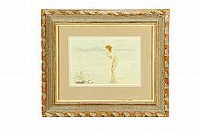 NUDE FEMALE FIGURE BY PAUL CHABAS (FRENCH, 1869-1937).