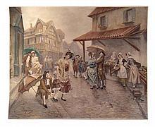 UNTITLED BY MARIANO ALONSO PEREZ Y VILLAGROSSA (SPANISH, 1857-1930).