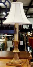Heavy Gilded Brass Decorator Lamp, 32 H