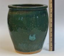 Asian Terra Cotta Pottery, Green Glaze