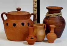 5 Terra Cotta Pottery Vessels