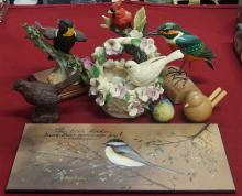 8 Pc Bird Collectibles