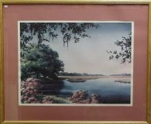 Nancy Ricker Webb, S/N Print, Beaufort Marsh