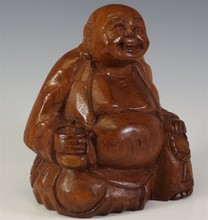 THAI TEAK WOOD BUDDHA