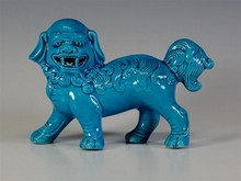 CHINESE TURQUOISE BLUE FOO DOG