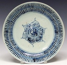Late Ming/Early Qing Blue Decorated  Bowl
