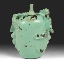 1950s Turquoise-Enameled Metal Snuff Bottle