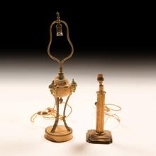 Two 19th Century French Bronze Table Lamps