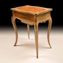 Louis XVI-style Antique Marquetry Inlaid Table
