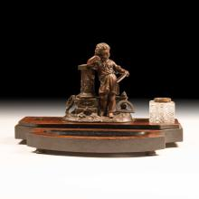 19th c. Continental Inkwell Desk Set