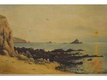 Cove at Sunset, Duchon-Doris, Oil, 1928