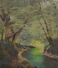 Stream in the Woods, Oil on Canvas