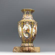 Chinese Porcelain Famille Rose Vase With Enamel Bird and Flower