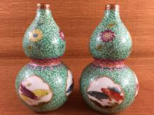 A pair of Chinese porcelain famille rose vase