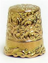 18K Gold Thimble