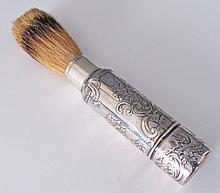 Sterling Silver Gentleman's Compact Shaving Brush