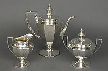 Gorham Sterling Silver 3 Pc Coffee Service