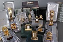 12 Bulova Miniature Clocks