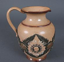 Doulton Lambeth Stoneware Pitcher Late 19th C