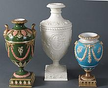 3 Pcs Late 19th C - Early 20th C Wedgwood Urns