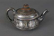 Rare Wedgwood Silver Over Copper Lustre Teapot