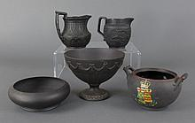 5 Pcs Wedgwood Black Basalt
