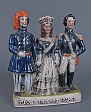 19th C Staffordshire Figural Group