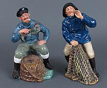 2 Royal Doulton Fisherman Figures