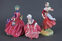 3 Royal Doulton Lady Figures