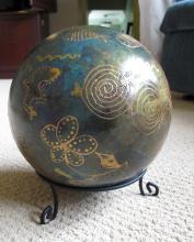 Hand painted Gazing Ball