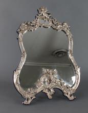 Sterling Silver Art Nouveau Dresser Mirror