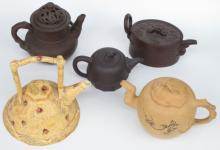 Collection of 5 Japanese Teapots