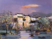 Peng Yu small village Twilight
