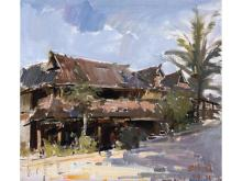 Zhong Qiang landscape painting