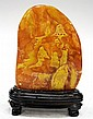 Chinese Soapstone Mountain Carving