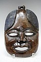 Japanese Carved Hardwood Mask