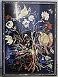 Pietra Dura Bird & Flower Picture w/ Inlaid Stones